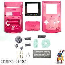 Game Boy Color Gehäuse Set Display GameBoy Shell Batteriedeckel Case Rot