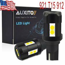 AUXITO 2X T15 912 921 LED Reverse Backup Light Bulb W16W HID 6000K Error Free