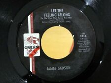 Crossover Soul 45 JAMES GADSON Let The Feeling Belong/Got To Find My Baby CREAM