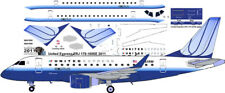 United Express OC Embraer ERJ 170 1/144 airliner decals for Hasegawa kit