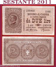 ITALIA,  ITALY,  2 LIRE VITT. EMANUELE III 1922, P. 37c, QSPL- / AXF-  SERIE 146