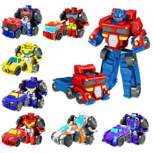 Transformers Heroes Rescue Bots Flip Racer Kid Car Action Figures Toy Playset