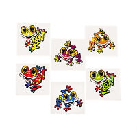 FROGS PARTY FAVOUR Funny Frog Tattoos Temporary Kids Tattoo Pk of 36 Free Post