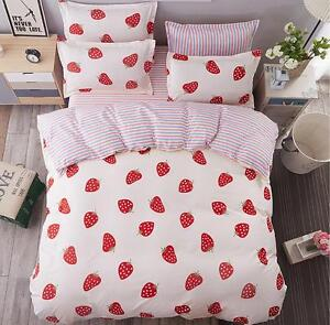 New Cute Fruit Animal Home School Bedding Duvet Cover Sets Cotton Sheet set