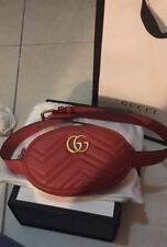 309ccd4c3a04 Authentic Gucci GG Marmont Leather Waist Belt Bag