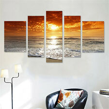 Sunset Canvas Painting Print Abstract Picture Home Living Room Wall Art Decor AU