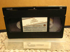 ABRAHAM LINCOLN CONSPIRACY documentary 1977 rare Whit Bissell VHS