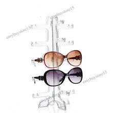 Acrylic 5 Pairs Eyeglass Sunglasses Show Rack Display Stand Holder Organizer New