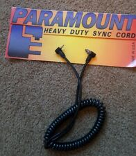 Paramount 5 Coiled Sync Cord Vivitar to Hot Shoe