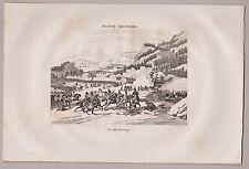 Murgtal, Schlacht bei Malsch - d'Etlingen - Stich, Kupferstich von Couché 1835