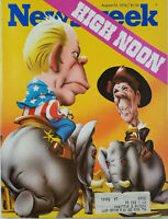 Newsweek Aug 23 1976 Vtg Magazine High Noon GOP Gerald Ford Ronald Reagan - VG