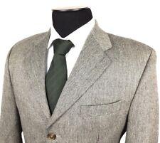 RALPH LAUREN Mens 40R Gray Herringbone 3-Button Lambswool Sport Coat/Jacket