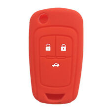 Red Silicone Flip Key FOB keyless cover key case fit for Chevrolet Cruze 3 BTN