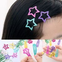 6Pcs Kids Baby Girls Bang Hair Clips Snaps Hairpin Bobby Hair Accessories Gift