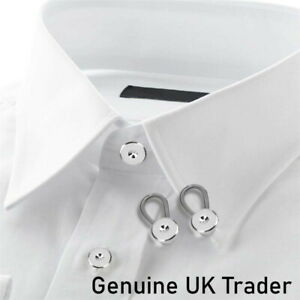 2x Instant Fix Collar Expanders - Shirt Blouse - Neck Cuff Extenders - UK TRADER