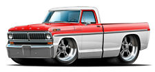 1970 FORD F100 302 Cartoon Truck Boys Mens Wall Graphic Decal Sticker Man Cave