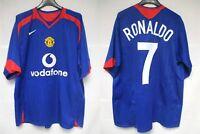 Maillot MANCHESTER UNITED NIKE 2006 RONALDO n°7 vintage shirt Champions League L