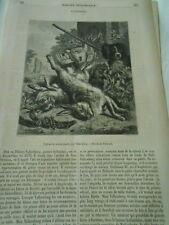 Nature morte d'après Valkenburg 1853 Gravure Old Print