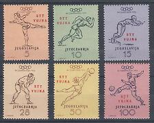 Yugoslavia, Trieste Zone B Sc 51-56 MNH. 1952 Helsinki Olympics complete, VF
