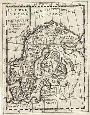 Schweden/Norwegen/Dänemark/Baltisches Meer 1775 seltene Kupferstichkarte !!!