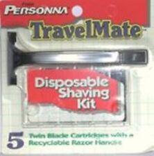 Personna Travelmate Razor + 5 Twin Blades Cartridges (Holds All Trac II Blades)