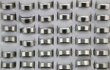 Fashion 8mm Width Mens rings Wholesale Lots 6pcs Stainless steel Simple