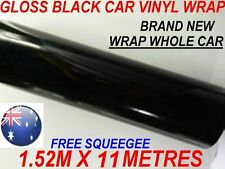 OZ GLOSS BLACK Car Vinyl Wrap Roll Sticker1.52M x 11 Metres can do Whole Car