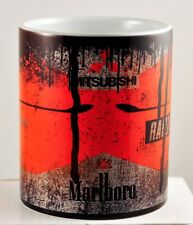 Retro Marlboro Mitsubishi RalliArt Oil Can Mug Car Motorcycle Tea Coffee Mug