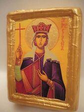 Saint Helena The Empress Rare Catholic & Greek Orthodox Wooden Icon art Handmade