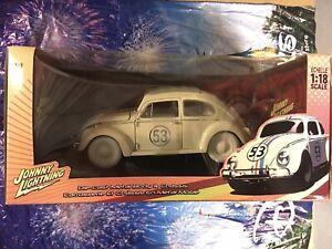 Disney Herbie Hully Loaded The Love Bug Diecast 1:18 Johnny Lightning New
