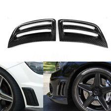 Bumper Carbon Fiber Air Vent Duct Cover For Mercedes Benz W204 C63 AMG 2008-2011