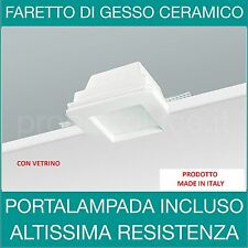 Faretto in Gesso con vetrino a Incasso GU10 Portafaretto a scomparsa