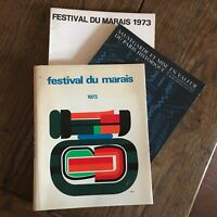 Programa Festival de La Swamp 1973 2vol. Respaldo Y Retro En Valor París