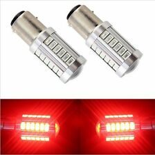 2X Red P21W 1157 BA15S HNYRI 33 LED Bulb 5730 SMD Super Bright Car Light Auto