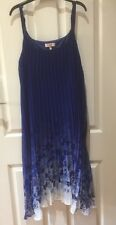 Millers Blue Summer Pleated Long Dress Size 12