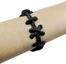 Black Stitch Bracelet Goth Horror Frankenstein Monster Movie Fx Halloween Gothic