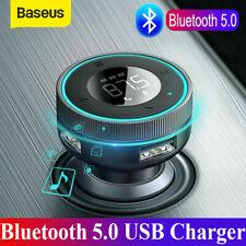 Baseus Transmissor Fm Bluetooth mãos livres 2 * Adaptador De Carregador De Carro Usb Player