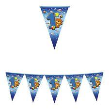 FESTONE BANDIERINE 1º COMPLEANNO Bimbo 6 m Azzurro Addobbi feste eventi