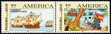 ✔️ PANAMA 1992 - UPAEP SHIPS AMERICA - MI. 1737/1738 ** MNH OG [101.026]