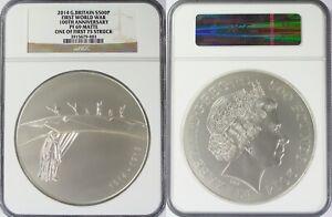 2014 Great Britain £500 Pound Silver First World War ~ NGC PF69 Matte ~ 1 of 75
