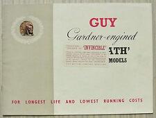GUY GOLIATH CHASSIS Trucks Sales Brochure Sept 1954