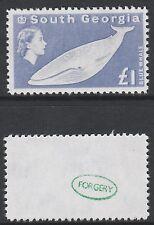 Falklands (710) 1963 South Georgia £1 Blue Whale -  a Maryland FORGERY unused