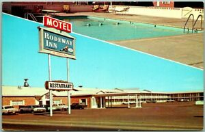 Deming, New Mexico Postcard RODEWAY INN MOTEL Highway 70 / 80 Roadside c1960s