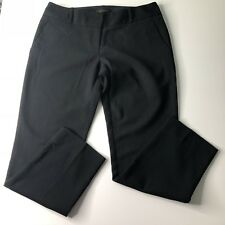 The Limited Womens size 8 Dress Pants Straight Leg Black Stretch Flat Front