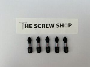 BOSCH Impact Rated Screwdriver Bits PZ2 x 25mm (NEW) Pack of 5