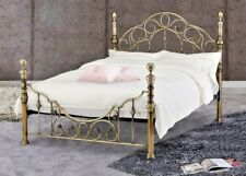 9d8eee4b5b4a Lavish Florence Brass Effect Bed Frame in King Size 5 ft Delivery