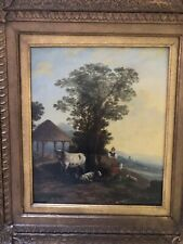 "Thomas Sidney Cooper ""Pastoral Scene"" Oil Painting On Board."