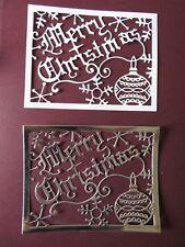 Die Cuts Cheery Lynn Merry Christmas Card Die Cuts Christmas