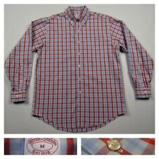 Brooks Brothers 1818 Mens Red Check Traditional Fit Button Front Shirt Medium
