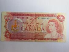 Bank of Canada 1974 BC-47aT  $2 Note SERIAL RS2600143 well circulated condition
